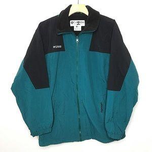 Columbia Vintage Blue Black Zip Up Ski Snow Jacket